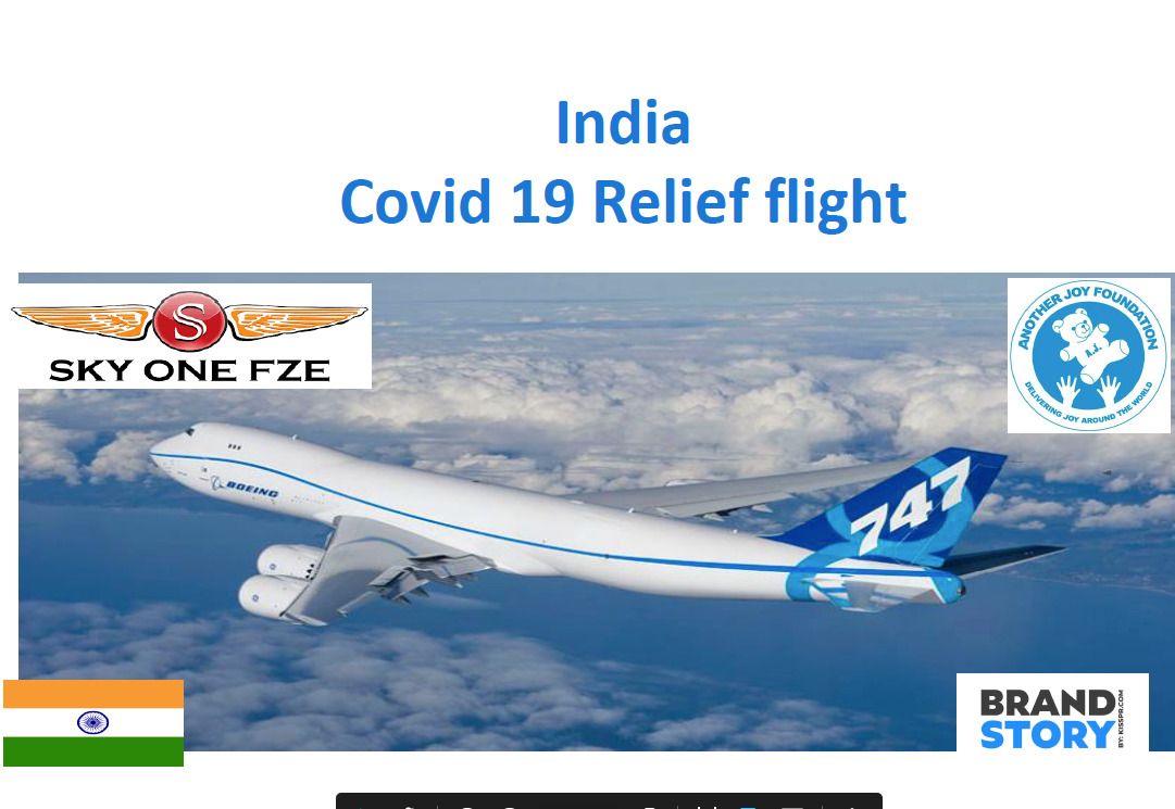 India COVID Relief Flight - KISS PR Brand Story