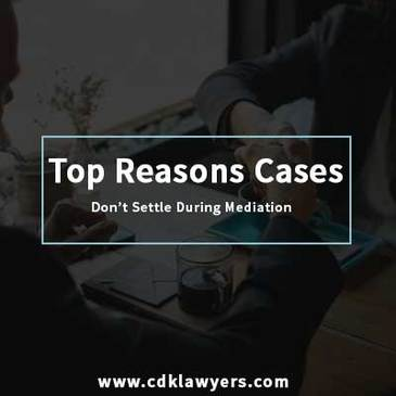 Dallas employment Lawyer - Top Reasons Cases Don't Settle During Mediation