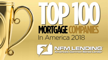 NFM Lending ranked in the Top 100 Mortgage Companies in America 2018
