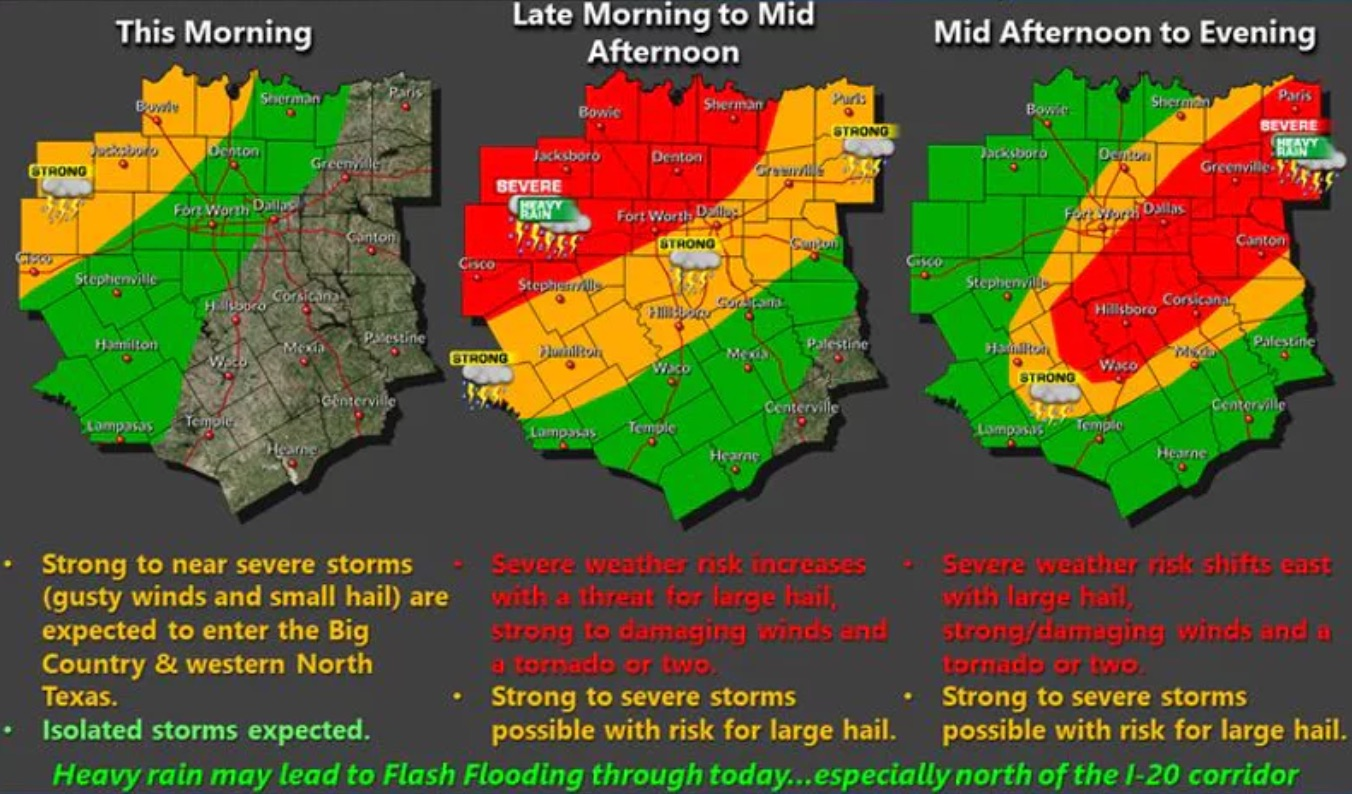 Dallas Fort Worth On High Alert As Storms Bring Hail Damage