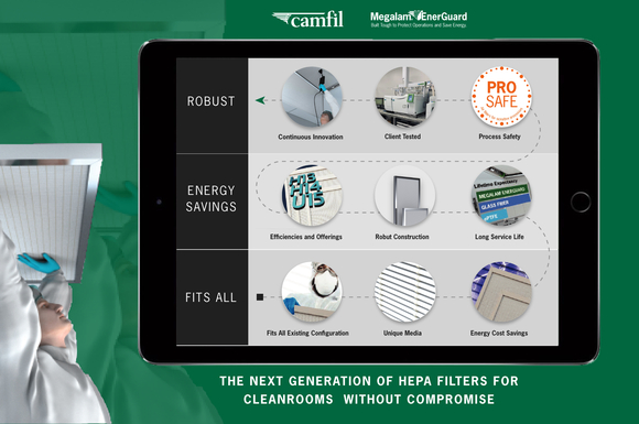 New Robust HEPA Filter for Pharmaceutical Cleanrooms By Camfil USA