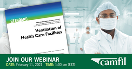 Air Filtration Expert Explains New ASHRAE Recommendations for Healthcare Facilities in Free Webinar, February 11