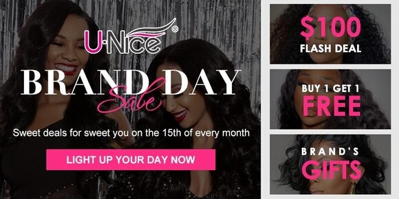 Want to Redefine Your Hairstyle? Splurge on UNice Brand Day April Sale
